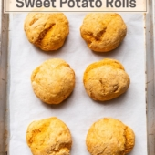 2-Ingredient Sweet Potato Rolls recipe for no yeast bread | BestRecipeBox.com