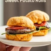 2-Ingredient Sweet Potato Rolls No Yeast needed! super easy | BestRecipeBox.com