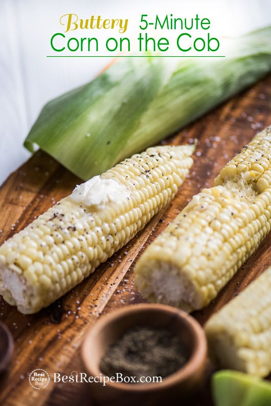 5-minute Buttery Corn On The Cob Recipe | @bestrecipbox