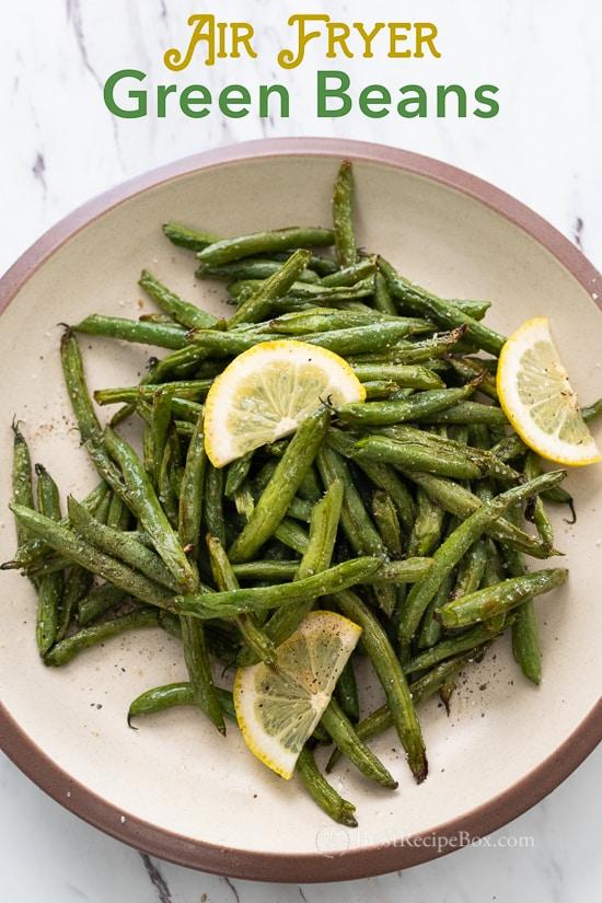 Air Fried Green Beans Recipe in Air Fryer | BestRecipeBox.com