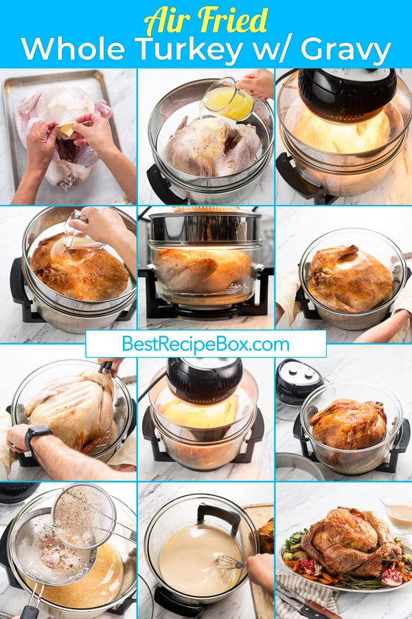Air Fried Whole Turkey In Oil Less Air Fryer for Thanksgiving | @BestRecipeBox