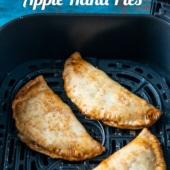 Apple hand pies in air fryer basket