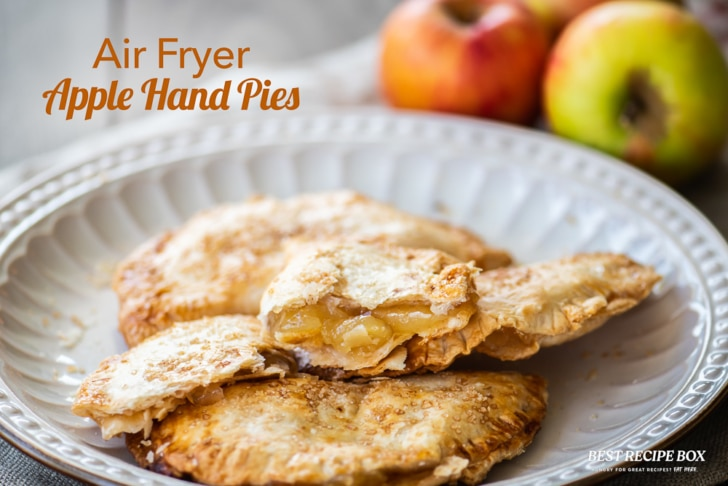 Air Fryer Apple Hand Pies on plate