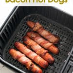 Easy bacon wrapped kids snack in basket