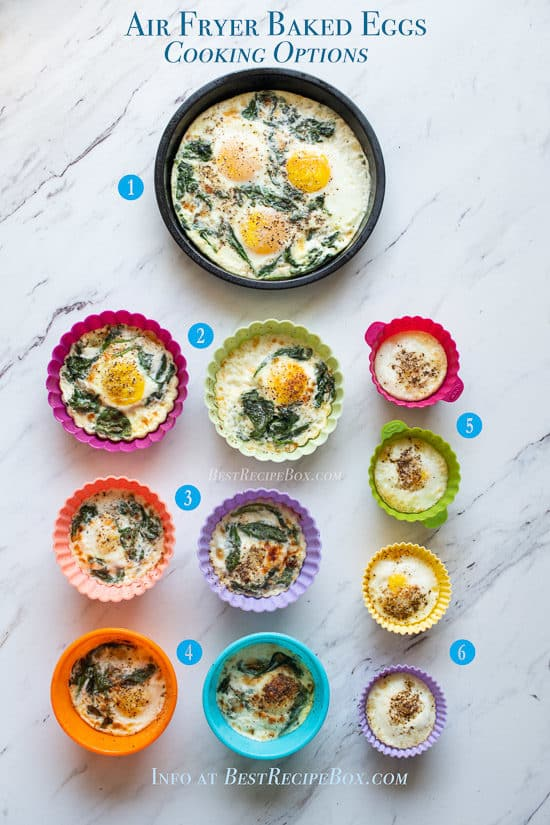 Easy Air Fried Baked Eggs Recipe cooking options