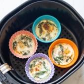 Easy Air Fried Baked Eggs Recipe in Air Fryer for Breakfast Brunch   @bestrecipebox