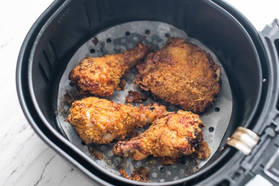 Finished air fried chicken
