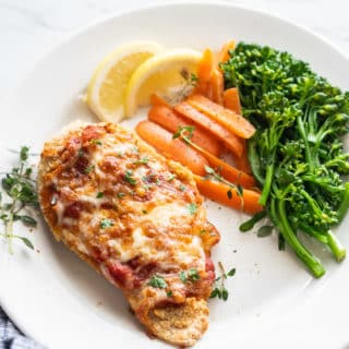 Air Fryer Chicken Parmesan Recipes - Healthy Little Oil @bestrecipebox