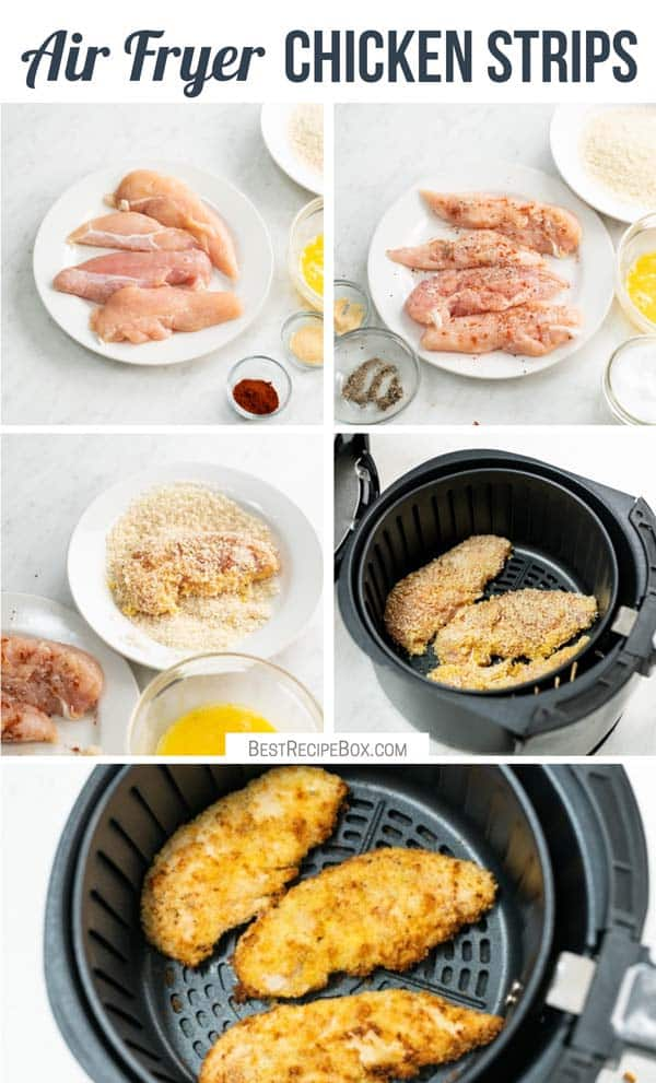 How to Cook Air Fried Chicken Tenders Recipe or Chicken Strips | BestRecipeBox.com