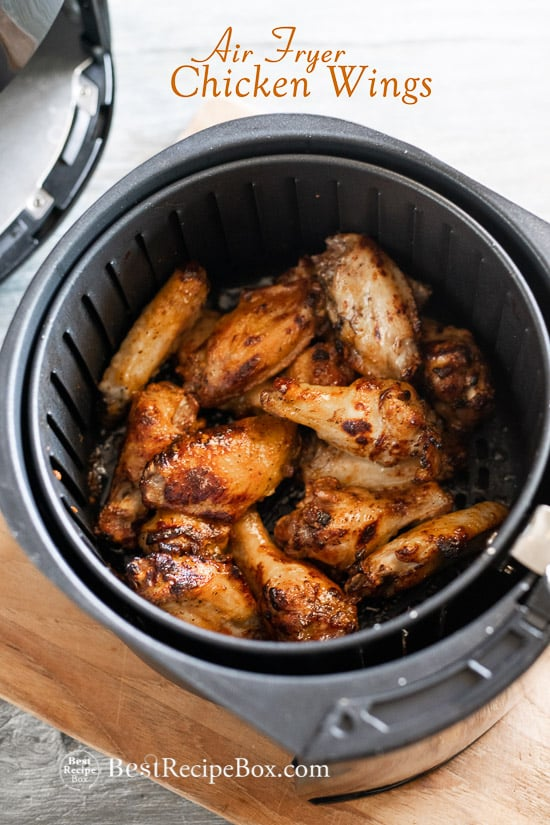 crispy air fryer chicken wings cornstarch