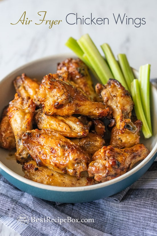 Air Fryer Chicken Wings Recipe for Crispy Air Fried Chicken Wings @bestrecipebox