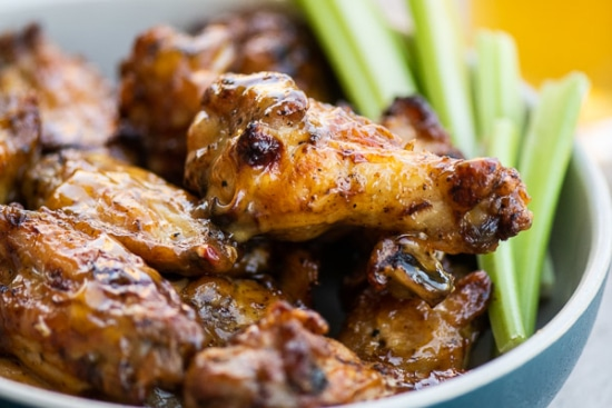 Chicken wings tossed with extra sauce