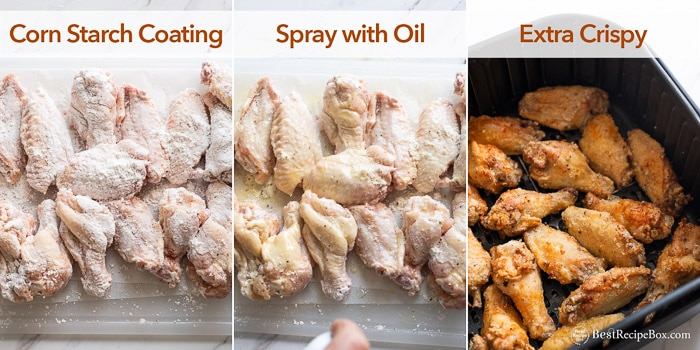 different breading for air fryer chicken wings