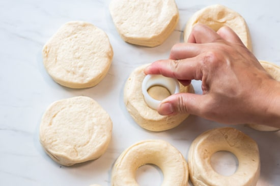 Cutting hole out of biscuits