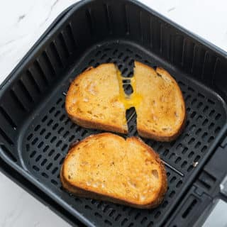 Air fryer Grilled Cheese Sandwich Recipe @BestRecipeBox