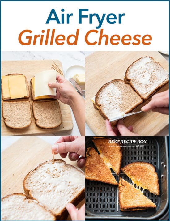 Air Fryer Grilled Cheese step by step