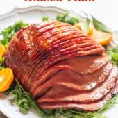 Air Fryer Ham with Brown Sugar Glaze | BestRecipeBox.com