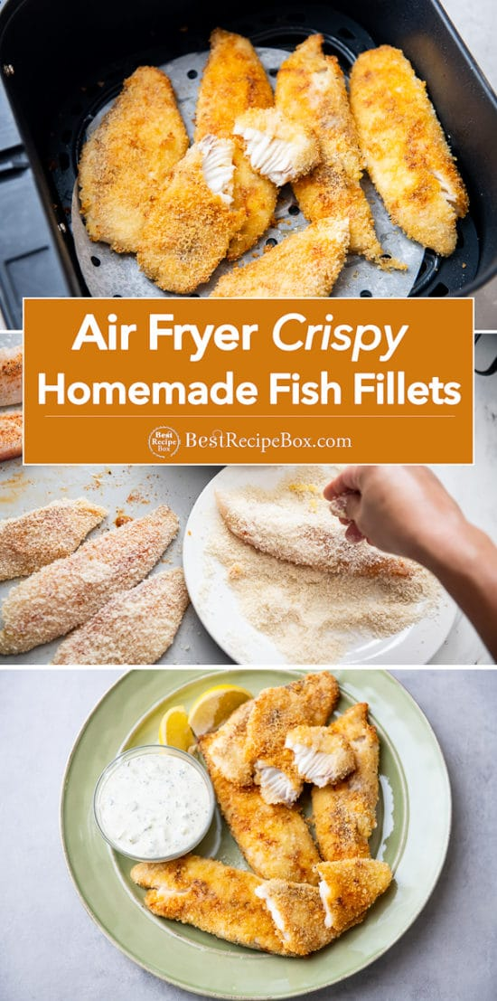 Air Fryer Homemade Fish Fillets Recipe step by step