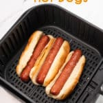 Easy Air Fried Hot Dogs Recipe in Air Fryer @BestRecipeBox