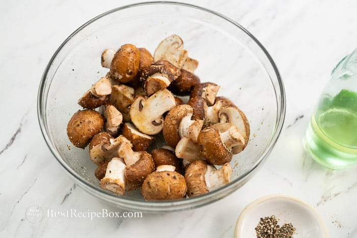 Easy Air Fryer Mushrooms Recipe in Air Fryer | @bestrecipebox