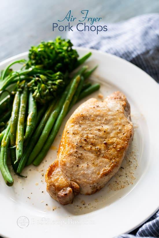 Air Fryer Pork Chops Recipe for Juicy Air Fried Pork Chops | @bestrecipebox