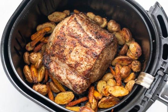 Pork Loin cooked halfway