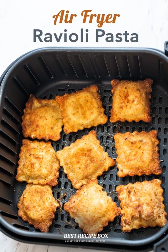 Air fryer ravioli pasta recipe with sauce