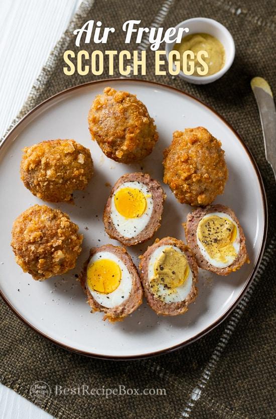 Low Carb Air Fryer Scotch Eggs