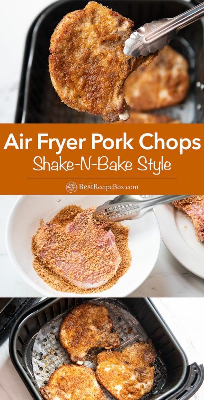 Air Fryer Shake N Bake Pork Chops Recipe step by step