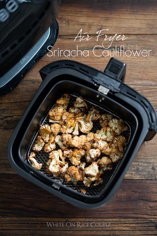 Air Fryer Spicy Cauliflower Recipe   @whiteonrice