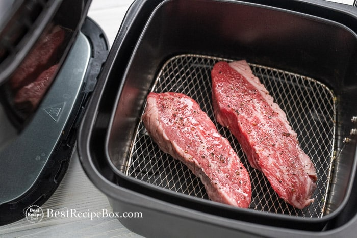 Easy Air Fryer Steak Recipe | @bestrecipebox