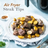 Best Air Fryer Steak Tips Recipe in the Air Fryer. Perfect Keto Steak Bites Dinner! | @bestrecipebox