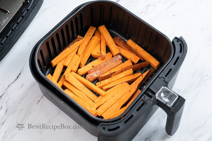 How to make air fried sweet potato fries @BestRecipeBox