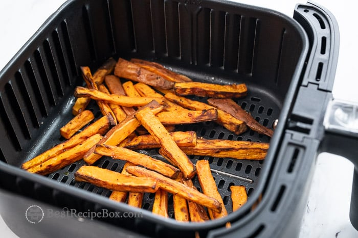 How to make air fried sweet potato @BestRecipeBox