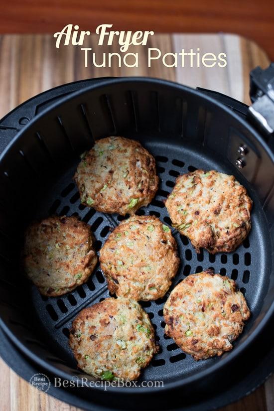 Air Fryer Tuna Patties recipe in basket