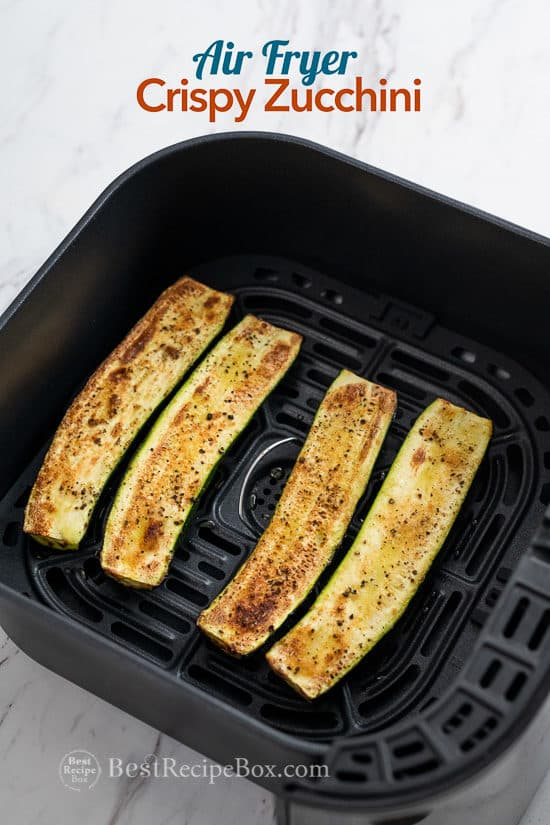Air Fryer Zucchini Recipe that's Low Carb, Keto and Healthy in a basket