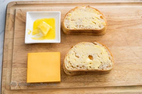 Lay cheese sandwich in air fryer