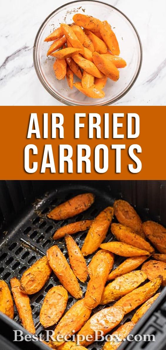 Air Fried Carrots Recipe in Air Fryer @BestRecipeBox