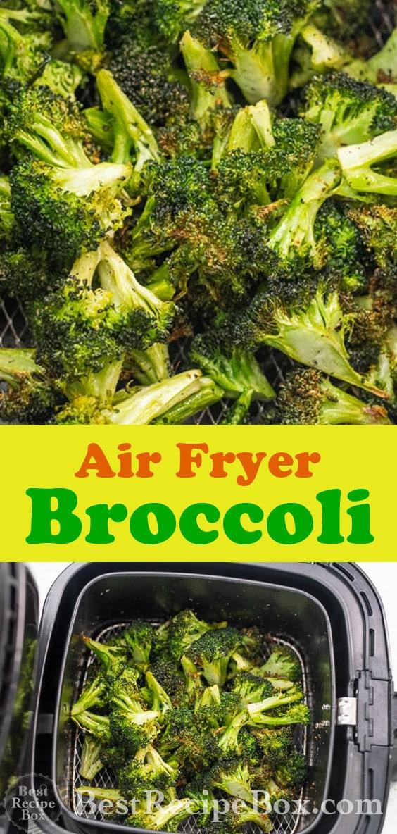 Air Fryer Broccoli with Garlic is Best Air fried broccoli @bestrecipebox