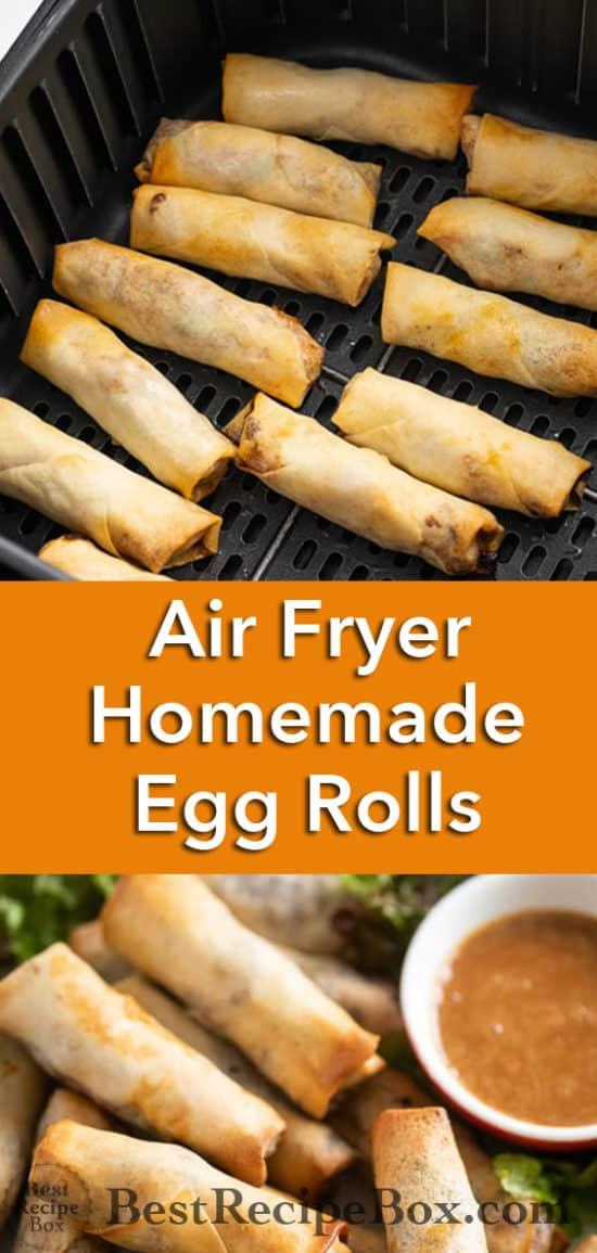 Air Fryer Chicken Egg Rolls Recipe or Pork Egg Rolls | @BestRecipeBox
