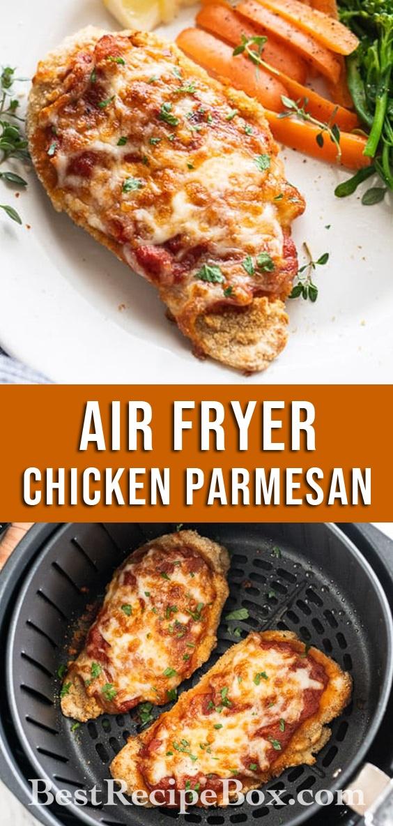 AirFryerChickenParmesanNEWAir Fryer Chicken Parmesan Recipes - Healthy Little Oil @bestrecipebox
