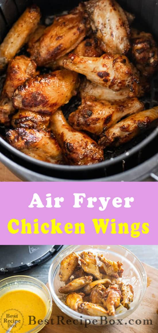Healthy Air Fryer Chicken Wings Recipe with No Oil   Best