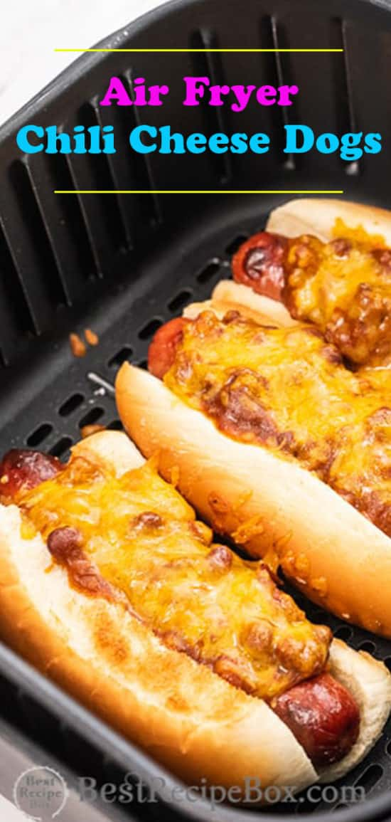 How to Cook Air Fried Chili Cheese Hot Dogs Recipe | @BestRecipeBox