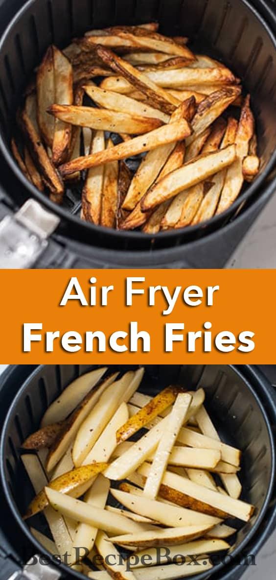 Air Fryer Homemade Air Fried French Fries Recipe @bestrecipebox