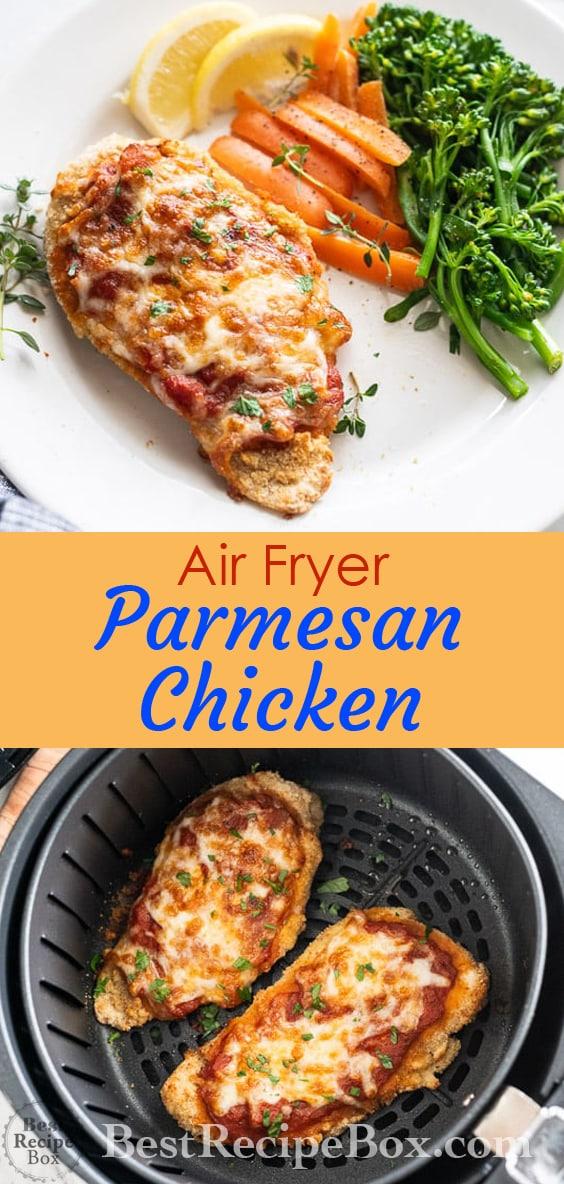 Air Fryer Chicken Parmesan Recipes - Healthy Little Oil @bestrecipebox