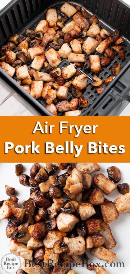 Air Fryer Pork Bites with Mushrooms | @BestRecipeBox