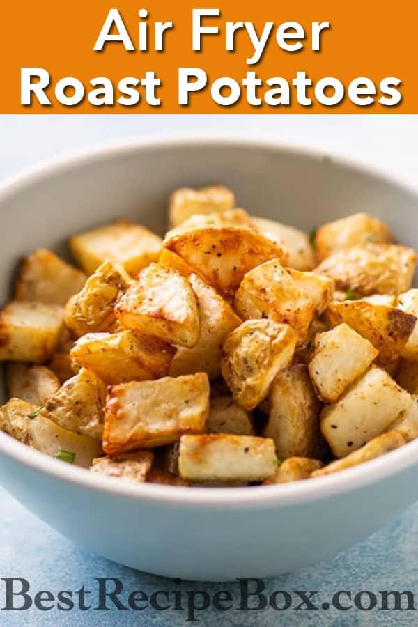 Air Fryer Crispy Garlic Roast Potatoes Best Crispy Air Fried