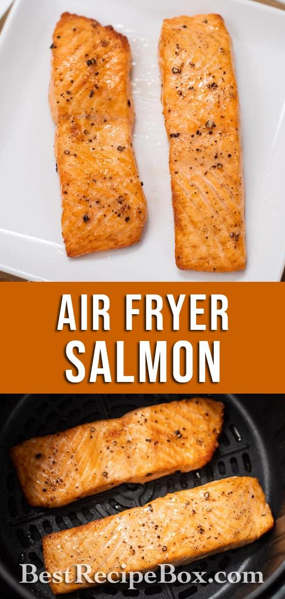 Healthy Air Fried Salmon Recipe in Air Fryer @BestRecipeBox