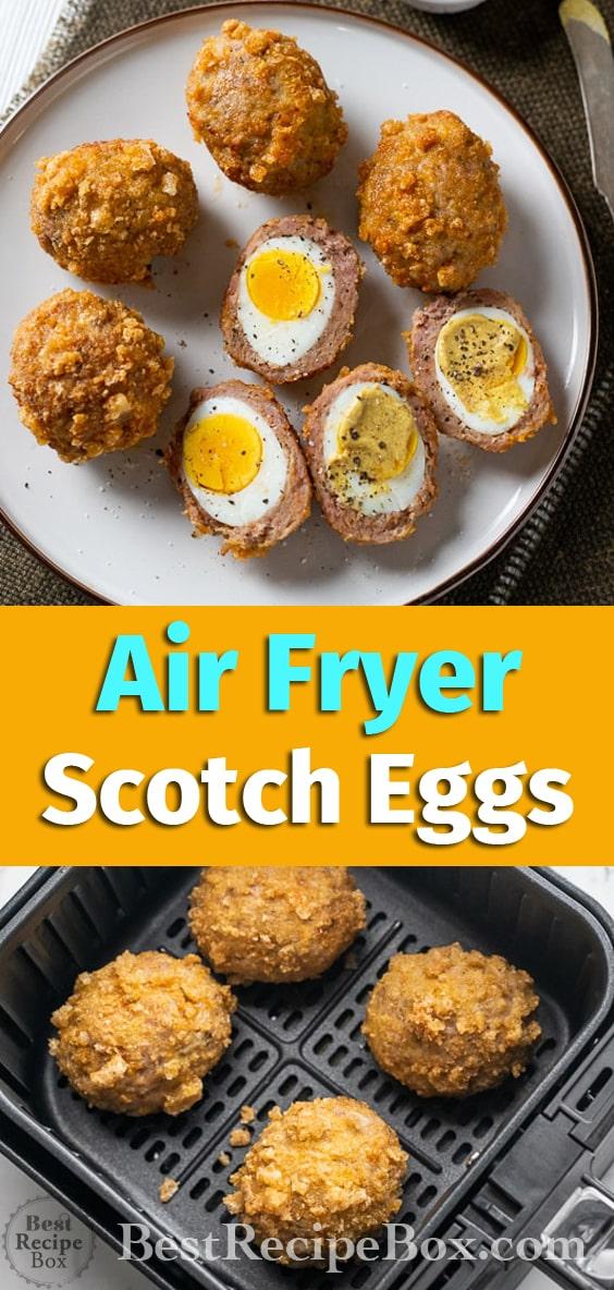 Low Carb Keto Air Fryer Scotch eggs Recipe @BestRecipeBox
