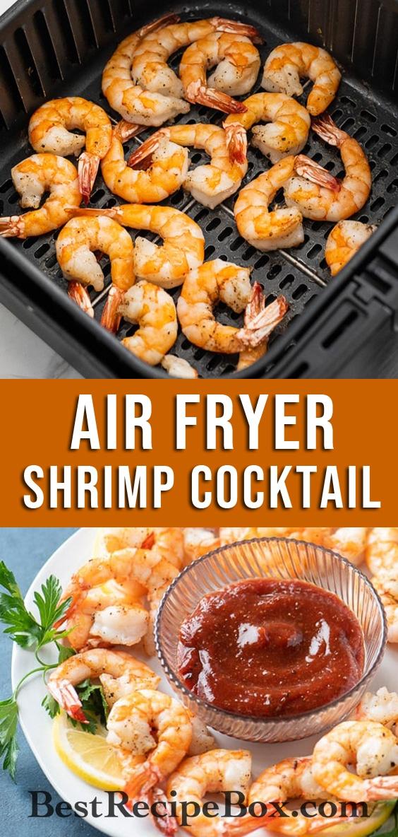 Air Fried Shrimp Cocktail Recipe in Air Fryer | BestRecipeBox.com